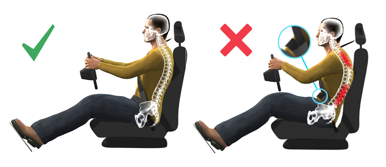 12 conseils pour un bon dos dr eric montagne - Siege auto contre le mal de dos ...