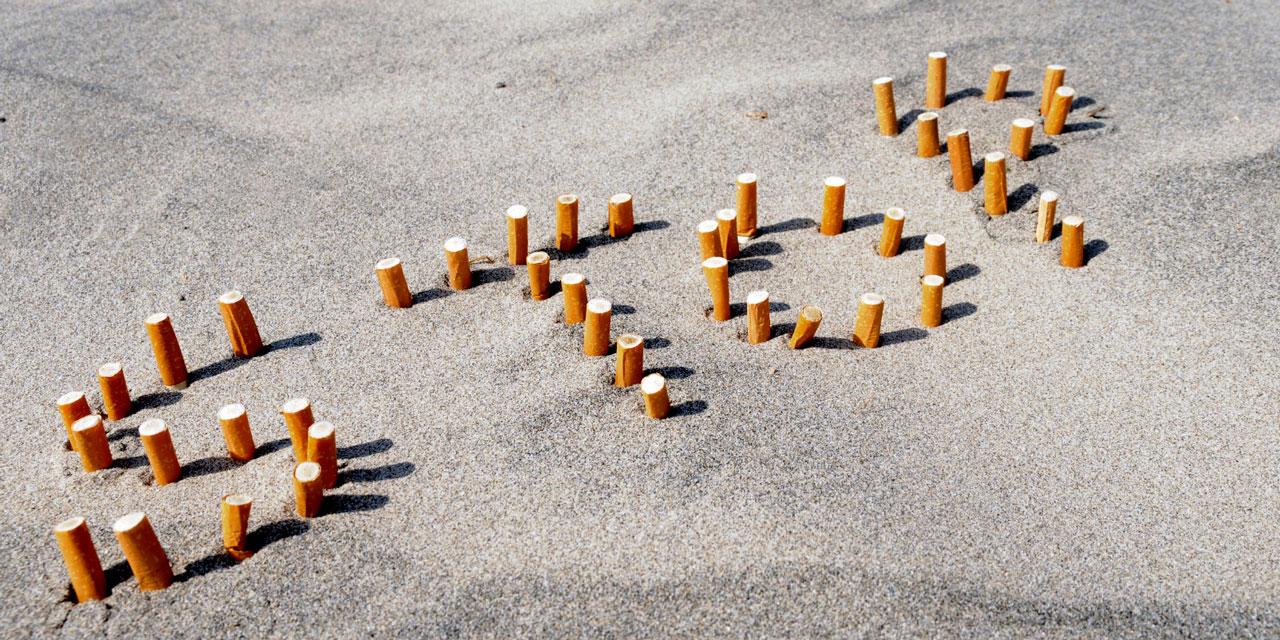 Comme a cessé de fumer il y avait des pellicules